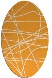 rug #882295 | oval white stripes rug