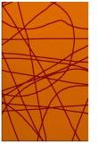 rug #882491 |  orange stripes rug