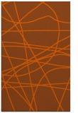rug #882563 |  red-orange stripes rug
