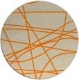rug #882651 | round orange stripes rug