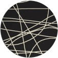 rug #882675 | round black abstract rug