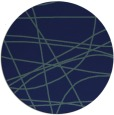 rug #882691 | round blue stripes rug