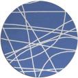 rug #882699 | round blue stripes rug