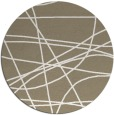 rug #882799 | round white stripes rug