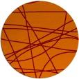 rug #882843 | round orange abstract rug