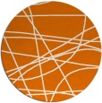 rug #882847 | round orange stripes rug