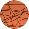 rug #882855 | round orange abstract rug