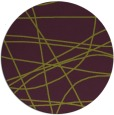 rug #882879 | round green abstract rug