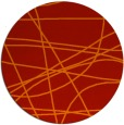rug #882895 | round red abstract rug