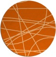 rug #882911 | round red-orange abstract rug