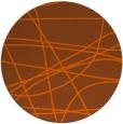 rug #882915   round red-orange stripes rug