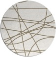 rug #882943 | round white abstract rug