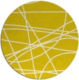 rug #882959 | round yellow abstract rug