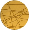 rug #882963 | round yellow abstract rug