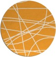 rug #882999 | round light-orange stripes rug