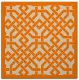 rug #885115 | square orange borders rug