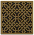 rug #885135 | square mid-brown borders rug