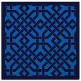 rug #885147 | square blue borders rug
