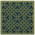 rug #885159 | square green traditional rug