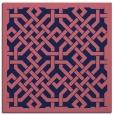 rug #885211   square blue-violet borders rug