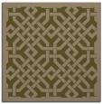 rug #885231 | square mid-brown borders rug
