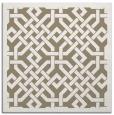 rug #885263 | square mid-brown borders rug
