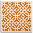 rug #885311 | square orange borders rug