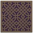 rug #885347 | square mid-brown borders rug