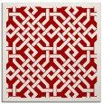 rug #885355 | square red traditional rug