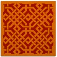 rug #885359 | square red traditional rug