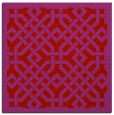 rug #885367 | square red borders rug