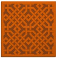 rug #885379 | square red-orange traditional rug