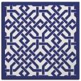 rug #885395 | square white borders rug