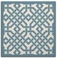 rug #885403 | square blue-green borders rug