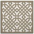 rug #885407   square white borders rug