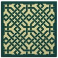 rug #885431 | square blue-green borders rug