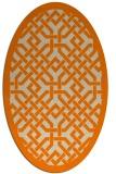 rug #885467   oval beige borders rug