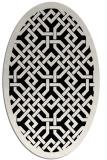 rug #885471 | oval white geometry rug