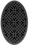 rug #885475   oval black rug