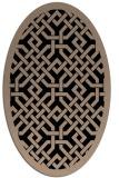 rug #885479 | oval beige traditional rug