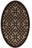 rug #885482 | oval borders rug