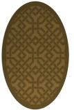 rug #885490 | oval borders rug