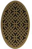 rug #885495 | oval black traditional rug