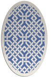 rug #885515 | oval blue borders rug