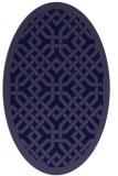 rug #885555 | oval blue-violet traditional rug