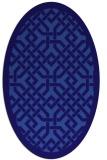 rug #885571 | oval blue-violet borders rug