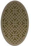 rug #885583 | oval mid-brown borders rug