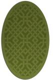 rug #885587 | oval green traditional rug