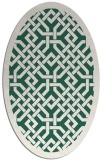 rug #885595 | oval green borders rug