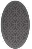 rug #885607 | oval mid-brown borders rug
